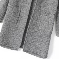 Cardigan tricot col montant -gris