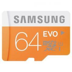 Karta pamięci Samsung Micro SD EVO 64GB class 10 + adapter Zapisuj ważne dla Ciebie wspomnienia szybko. Karty pamięci Samsung z serii EVO spełniają standard szybkości UHS-1, więc rejestruję zdjęcia i filmy o wiele szybciej niż standardowe karty microSD. Dodatkowe zabezpieczenia przed najczęstszymi uszkodzeniami, oraz dostosowanie kart do zróżnicowanych warunków atmosferycznych czynią z nich niezawodnych kompanów nawet najdalszych podróży.