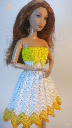Resultado de imagen para free crochet doll costumes for barbie dolls