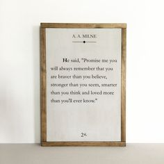 Book page sign quote sign literary quote nursery by FreestyleMom