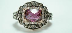 Levian Le Vian 14k Rose Gold Chocolate Diamond Raspberry Garnet ring | eBay