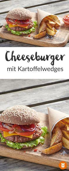 Cheeseburger mit kartoffel