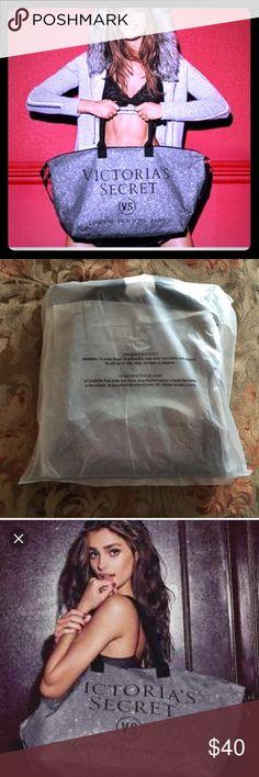 Glitter Victoria's Secret weekender bag Silver and black glitter bag by Victoria's Secret. Victoria's Secret Bags Shoulder Bags