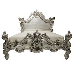 Royal Fortune Bed Silver Leaf now featured on Fab.