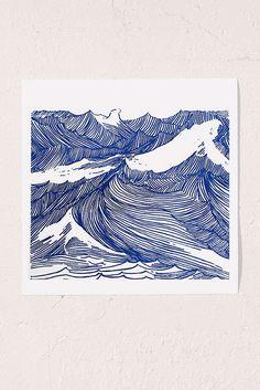Slide View: 1: Kym Fulmer Crashing Waves Art Print