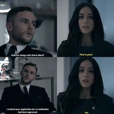 """""""How are things with Grant Ward?"""" - Framework Fitz and Daisy #AgentsOfSHIELD"""