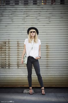 Lisa Dengler from Just Another Fashion Blog wearing our Kitty Skinny - Creeper #resdenim #respresent