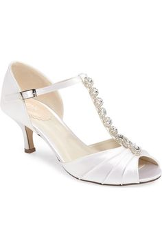 "Shorter heel; only 2.25"" pink paradox london Fantasy Crystal Embellished d'Orsay Sandal (Women) available at #Nordstrom"