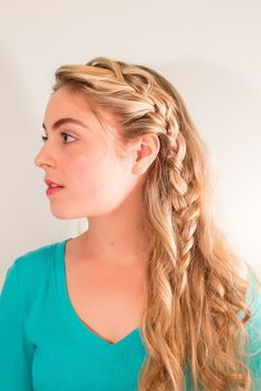 Messy braid inspired by Lily James' look in Cinderella.