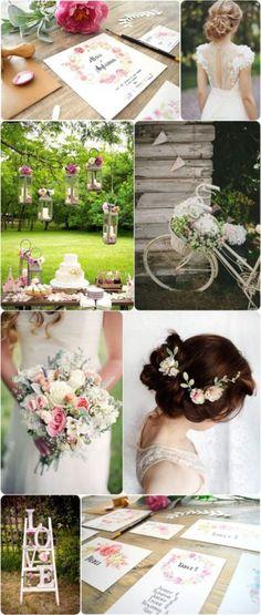 faire-part-fleurs-aquarelle-peinture-illustration-happy-chantilly Wedding List, Wedding Games, Rose Wedding, Wedding Planner, Wedding Day, Hippy Chic, Colorful Cakes, Wedding Announcements, Holidays Events
