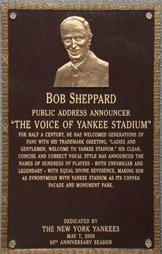 "Bob Sheppard ""The Voice of Yankee Stadium"""