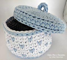 Crochet Coaster Pattern, Crochet Basket Pattern, Knit Basket, Crochet Tote, Knit Crochet, Crochet Patterns, Crochet Baskets, Crochet Decoration, Crochet Home Decor