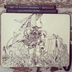#17 Viking's blood by 365-DaysOfDoodles on DeviantArt