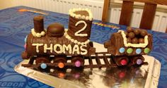#retrocake no baking required! Train made out of Swiss rolls!