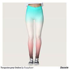 Turquoise grey Ombre Leggings Gothic Leggings, Ombre Leggings, Grey Ombre, Grey And Beige, Pink Turquoise, Leggings Fashion, Dressmaking, Stockings, Pairs