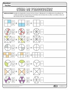 Discover thousands of images about Writing Equivalent Fractions Using Pie Model Math Games, Math Activities, Math Fractions Worksheets, Math Exercises, Math School, 4th Grade Math, Math For Kids, Math Classroom, Math Resources