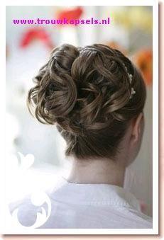 bridal, hair, updo, bruidskapsel