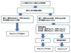 図2:アジア人向けのサルコペニアの診断手順(AGWGS)を示すフローチャート。