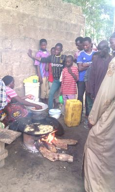 """Fiona: """"Within a few hours of receiving her ENTERPRISE GRANT, our sister was doing a roaring trade in street fare. This staple dish is a form of bean cake, providing tasty, hot protein by the mouthful to the working masses."""""""