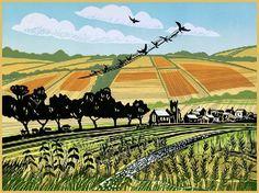 """High Summer"", Rob Barnes, Printer, Artist, Norfolk"