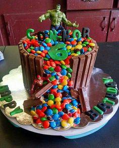 Hulk kit kat chocolate cake i made for Connor 's 6th birthday