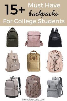 33 of the most trendy and cute school backpacks out there! These backpacks are great for college students, high school students, and teens in general. Super aesthetic backpacks for women and for travel. These backpacks come in all of the color and size options that you could dream of. Click to see them all! #school #backpack #college Girl College Dorms, College Life Hacks, College Fun, College Students, College Tips, Cute Backpacks For College, Trendy Backpacks, Girl Backpacks, School Backpacks