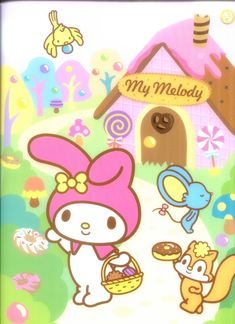 . My Melody Wallpaper, Hello Kitty Wallpaper, Iphone Wallpaper, Hello Kitty Images, Sanrio Hello Kitty, Sanrio Characters, Pocket Letters, Little Twin Stars, Colorful Wallpaper