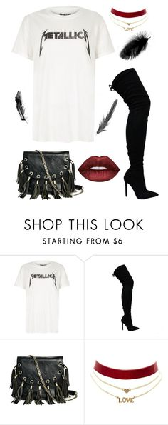 """""""Untitled #17"""" by ryanelizabeth0 on Polyvore featuring River Island, GUESS by Marciano, Charlotte Russe and Lime Crime"""