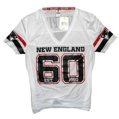Official New England Patriots ProShop - Jr Ladies PINK Mesh Jersey-White