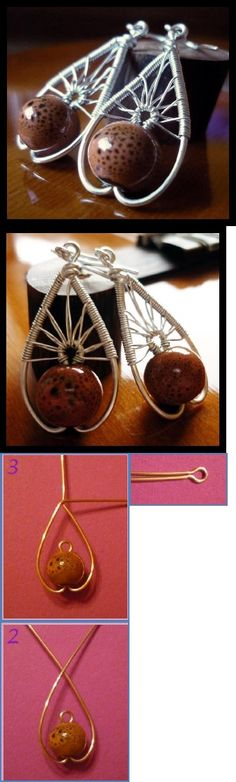 Tree of Life Wire Wrapped Earrings Tutorial