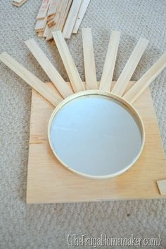 how to make DIY sunburst mirror