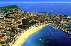 Aerial view of Costa Brava in Spain