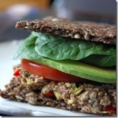 Burgers on Seed Bread - Vegan and Raw