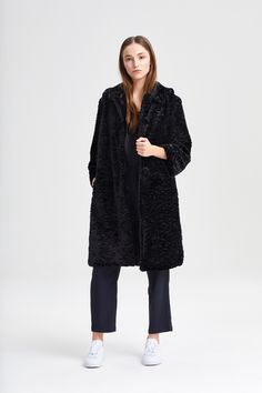 Coat Aida Persian Black Fake Fur, Persian, Fur Coat, Normcore, Street Style, Jackets, Black, Women, Fashion
