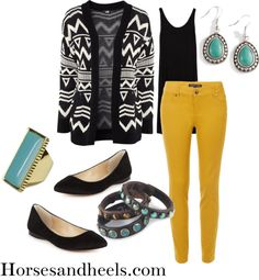 """How to Wear Mustard Jeans"" by horsesandheels ❤ liked on Polyvore"