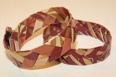 braided paper bracelets and bookmarks DIY