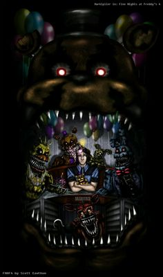 Five Nights at Freddy's 4 by BazukaTREE on DeviantArt (Markiplier in FNaF fanart is the best) Five Nights At Freddy's, Freddy S, Animatronic Fnaf, Markiplier Fnaf, Scary, Creepy, Good Horror Games, My Little Pony, Pokemon