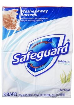 Acne Treatment >>> Safeguard Antibacterial Soap White with Aloe 4 oz bars 8 ea Pack of 2 *** Learn more by seeing the photo link. (This is an affiliate link). Benzalkonium Chloride, Antibacterial Soap, Overnight Mask, Hand Hygiene, Body Soap, Facial Cleansing, Fragrance Parfum, Active Ingredient