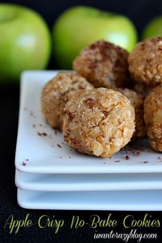 Apple Crisp No-Bake Cookies by I Want Crazy