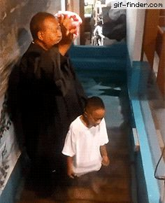 6-year-old boy is very excited to get baptized   Gif Finder – Find and Share funny animated gifs