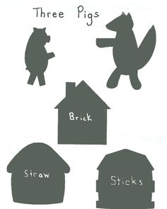 Three Little Pigs shadow puppets