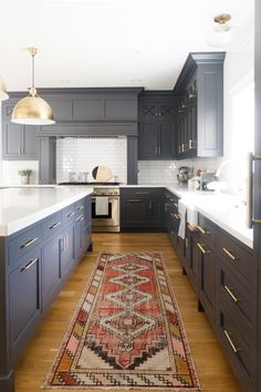 """Cabinet Color is """"Cheating Heart"""" by Benjamin Moore - Kitchen design by Fox Group"""