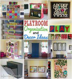 DIY Home Ideas | DIY Home Decor | Full playroom reveal chock full of organization tips and decor ideas!