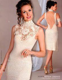 As Receitas de Crochê: Vestido de crochê sofisticado