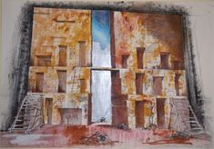 Set design for Oedipus Rex | crypt feeling, very Greek, tall, imposing
