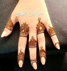 Simplee but cute henna design                                                   .... *** Figure out even more by going to the photo