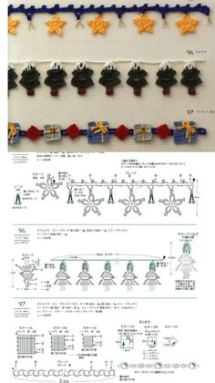 Crochet Christmas Trees, Crochet Ornaments, Crochet Snowflakes, Christmas Crafts, Christmas Decorations, Crochet Dolls, Knit Crochet, Yarn Bombing, Crochet Fashion