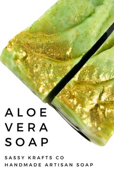 Soothing, silky green & white aloe soap. Topped with gold micro-fine bio glitter.  The scent is clean, sweet and soft with floral notes. It is not overly sweet and smells youthful and fun.  This soap was made with aloe instead of water.  This is a super bubbly bar with a soft silky glide. Great for upset skin, chaffing, and sunburn.  Aloe vera is moisturizing and can help relieve dry, itchy skin and also promotes skin healing… Best Nutrition Food, Best Diet Foods, Health And Nutrition, Beef Nutrition, Health Tips, Healthy Food, Nutrition Data, Nutrition Chart, Complete Nutrition
