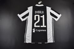 bcdb08824 Adult Juventus FC Home  21 DYBALA Fans Version Soccer Jersey 2017 18