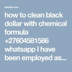 48 Best Activation powder and black dollar chemical +27604581586